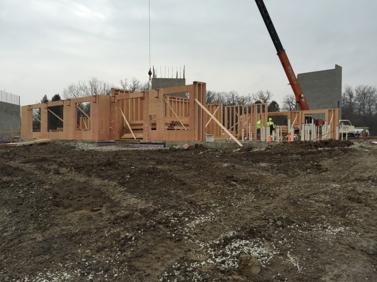 Prefabricated Wall Panels Installed, Feb 2016
